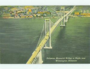 Unused Linen BRIDGE SCENE Wilmington Delaware DE HQ9987