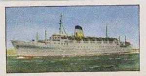 Golden Grain Tea Vintage Trade Card 1970 Passenger Liners No 23 Olympia