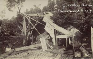 south africa, PORT ELIZABETH, Humewood Camp, Storm Damage (1913) RPPC