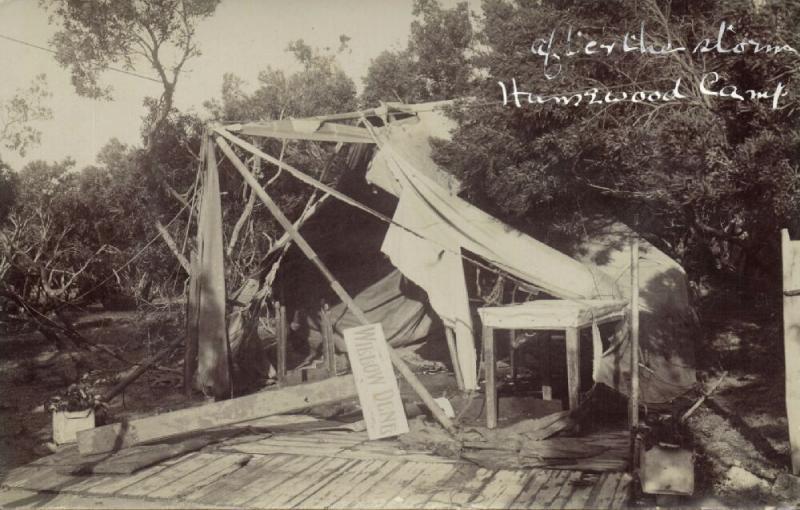 south africa, PORT ELIZABETH, Humewood Camp, Storm Damage (1913) RPPC