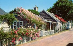 MA - Nantucket Island. Rose-Covered Cottage
