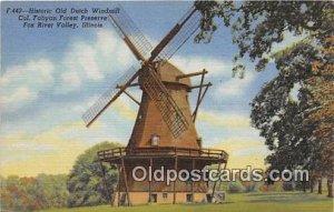 Historic Old Dutch Windmill Fox River Valley, IL, USA Unused