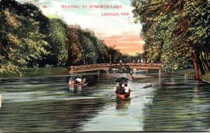 Nebraska Lincoln Boating At Epworth Park 1908