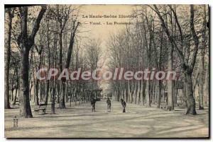Postcard Old Vesoul Les Promenades