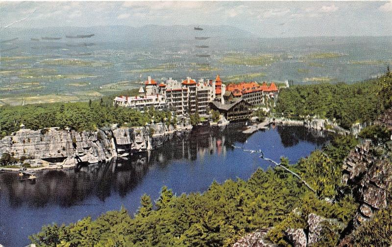 New Paltz New York~Lake Mohonk~House & Lake~Rondout Valley from Sky Top Path~'64