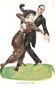 Doing The Tango The Dance of Today Postcard