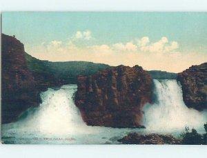 Pre-Chrome WATERFALL SCENE Twin Falls Idaho ID AG4236