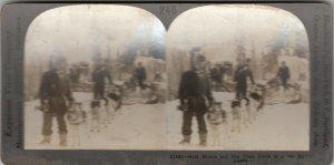 SV : Gold Miners & Dog Team , Alaska , 1902 : North of the Arctic Circle