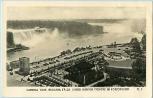 NY - Niagara Falls, Oakes Garden Theatre in Foreground  *RPPC