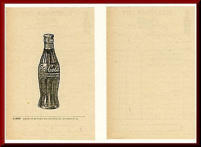 1950's Coca-Cola Bottling Co. Coke Order/Invoice, Alexander City, Alabama/AL