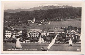 Velden am Worthersee, Mosslacherstrand, Austria, 1954 used Real Photo Postcard