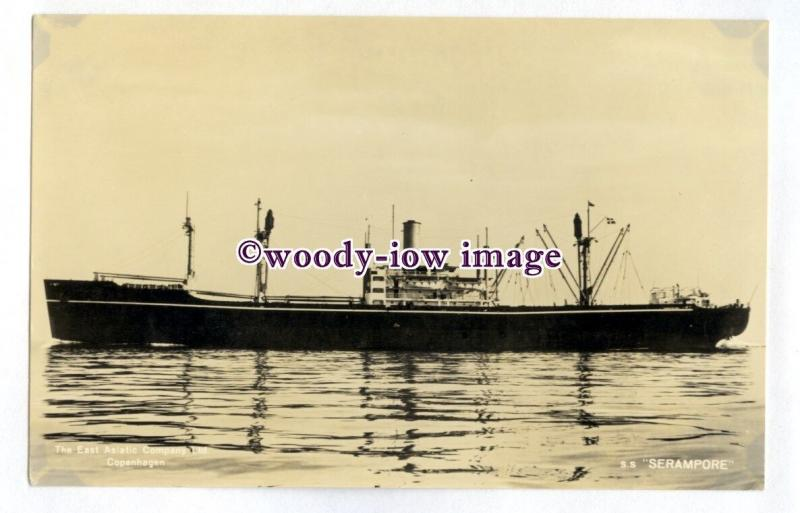 pf6269 - Danish East Asiatic Cargo Ship - Serampore , built 1945 - postcard
