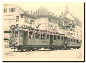 Postcard Modern Tram VBW BDe April 4, 37 WT als CFE April 4 in Bern Kornhausp...