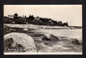 ME Richards Point Cottages MARTIN MAINE Postcard RPPC Real Photo PC