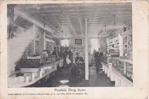 PITTSFIELD , Maine , 1901-07 ; Drug Store Interior