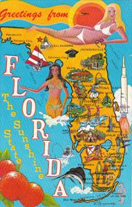 Greetings From Florida The Sun Shine State 1979