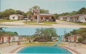 GULF BREEZE FL - SIESTA MOTEL street view + pool 1950s DEMOLISHED