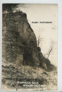 PINNACLE ROCK SHOALS, INDIANA RPPC REAL PHOTO POSTCARD