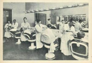 Italy Rome Alexander Club gents hairdressers barber shop