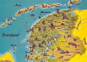 Netherlands Friesland Map Waddensee Nordsee