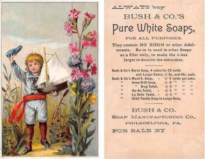 Bush & Co's Approx Size Inches = 2.75 x 4.50 Trade Card Unused