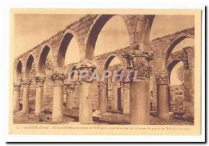 Syria Baalbek Old postcard The great Arab mosque in the 7th century built wit...