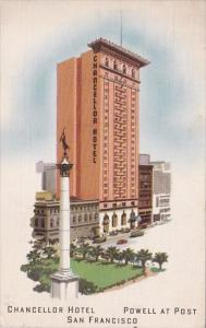 California San Francisco Chancellor Hotel Powell At Post 1941