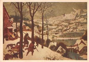 BT7620 Cacciatori Sulla Neve peter Brugel Kunsthistorisches Vienna paint peintur