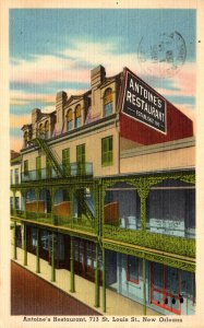 Louisiana New Orleans Antoine's Restaurant St Louis Street 1952