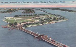 Florida Miami Beach Mac Arthur Causeway Is One Of Four Causeways Linking Miam...