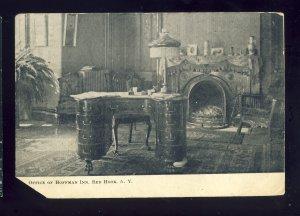 Red Hook, New York/NY Postcard, Office Of Hoffman Inn