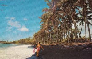 Hawaii Kalapana Black Sand Beach