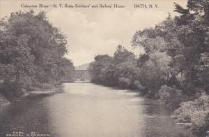 Conhocton River New York State Soldiers Home Bath New York Albertype
