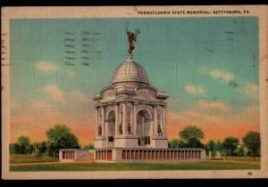 Bedford PA Gettysburg Marken Bielfield WWII Era State Monument Postcard A43