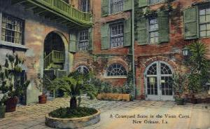Courtyard in Vieux Carre New Orleans LA Unused