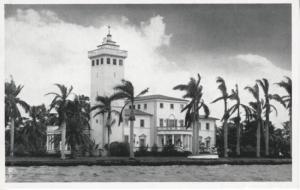Former Home Carl Graham Fisher Miami Beach FL Pioneer Developer Postcard E2
