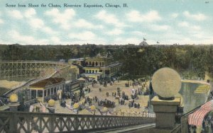 CHICAGO, Illinois, 1900-10s ; Riverview Exposition, Scene from Shoot the Chutes