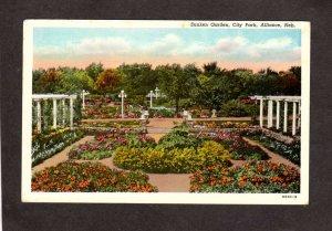 NE City Park Sunken Garden Alliance Nebraska Vintage Postcard