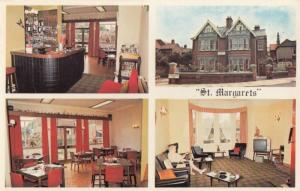 St Margarets Hotel Southsea TV Rooms Pub Map Advertising Postcard