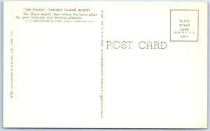 YANUCA ISLAND RESORT, FIJI  Interior THE FIJIAN Black Marlin Bar  Postcard