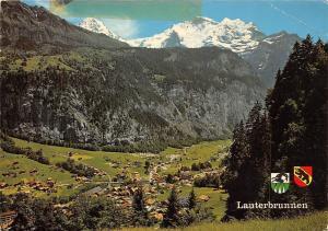 Switzerland Lauterbrunnen mit Monch und Jungfrau Panorama