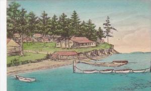 Washington Eastsound Buckhorn Lodge Orcas Island Albertype