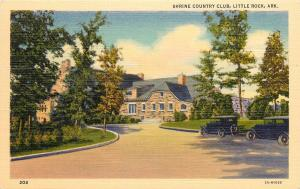 Vintage Linen Postcard; Shrine Country Club, Little Rock AR Unposted