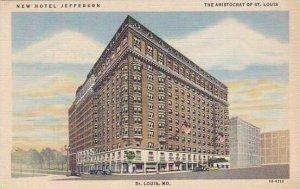 Missouri St Louis New Hotel Jefferson Curteich