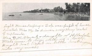 Columbus Ohio Lake Waterfront Private Mail Antique Postcard K45210