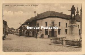 belgium, BLATON, Pont, Monument, Rue de la Station (1930s)