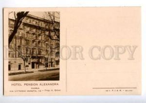 172396 ITALY ROMA Advertising HOTEL PENSION ALEXANDRA postcard