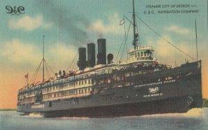 D.&C. Navigation Company , Steamer City of Detroit III , 1930-40s