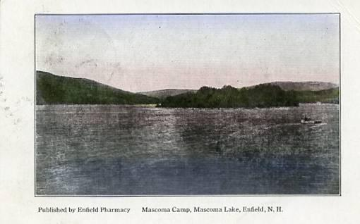NH - Enfield. Mascoma Camp, Mascoma Lake