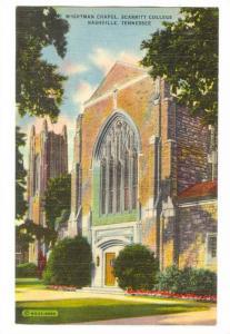 Wightman Chapel, Scarritt College, Nashville, Tennessee, 30-40s